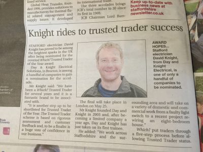 Which? Trusted Trader | Day and Knight Electrical